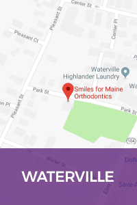 Map Waterville Smiles for Maine Orthodontics